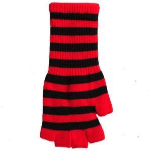 Gloves Striped Fingerless Sexy Safari Cheap Black